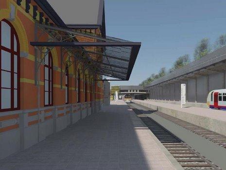 4 Projet RER Genval quai vers BXL © Infrabel Euro Liège