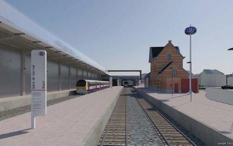 6 Projet RER Genval direction LLN © Infrabel Euro Liège