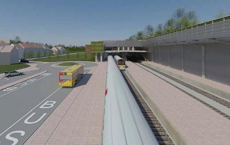 5 Projet RER Genval gare des bus © Infrabel Euro Liège
