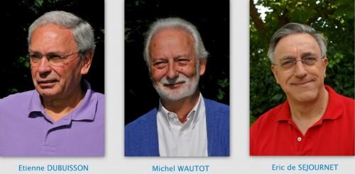 20121014 Etienne Dubuisson, Michel Wautot, Eric de Séjournet (montage).jpg